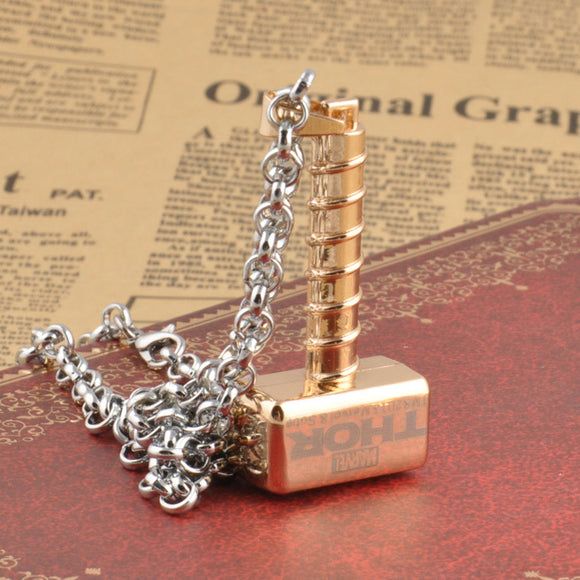 Thor Gold Hammer Necklace