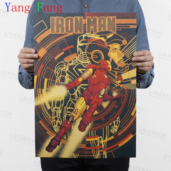 IRON MAN Marvel Comics retro Movie Kraft Paper Poster