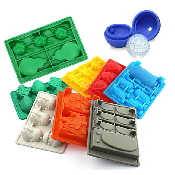 NEW 9pc Star Wars Ice Cubes Trays complete set