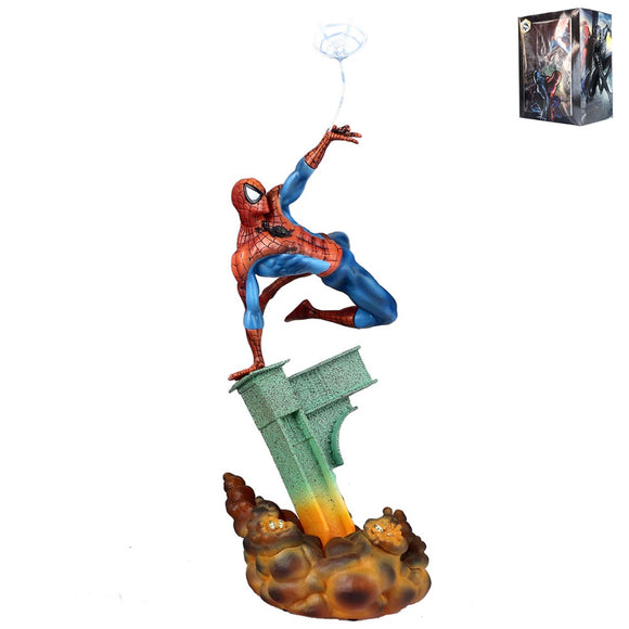 Spider-Man jumping statue figure