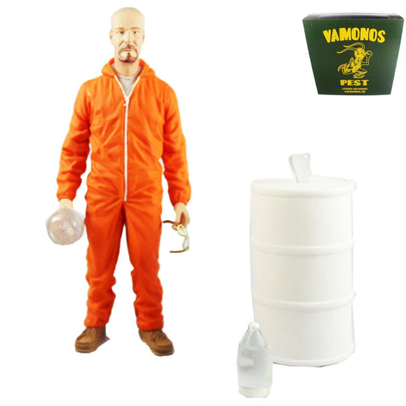 Mezco Breaking Bad Walter White Collectible Orange Hazmat Suit 15cm/5.9