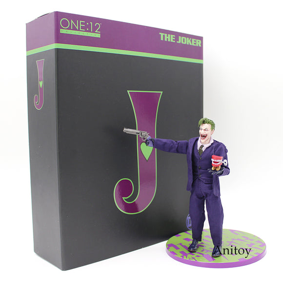 MEZCO Batman The Joker 1/12 Scale PVC Action Figure Collectible Model Toy (Real Clothing) 16cm