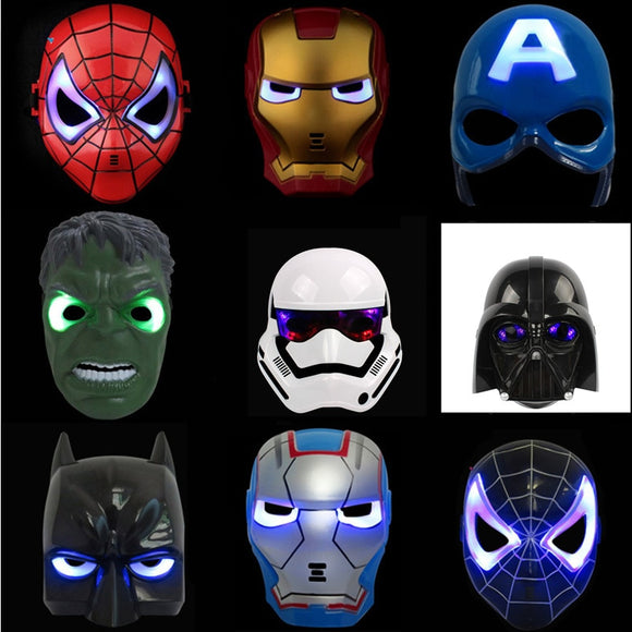 LED Glowing Super Hero Mask