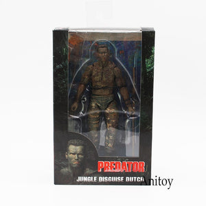 NECA Predator 30th Anniversary Jungle Extraction Disguise Dutch Jungle Hunters PVC Action Figure Collectible Model Toys 18cm