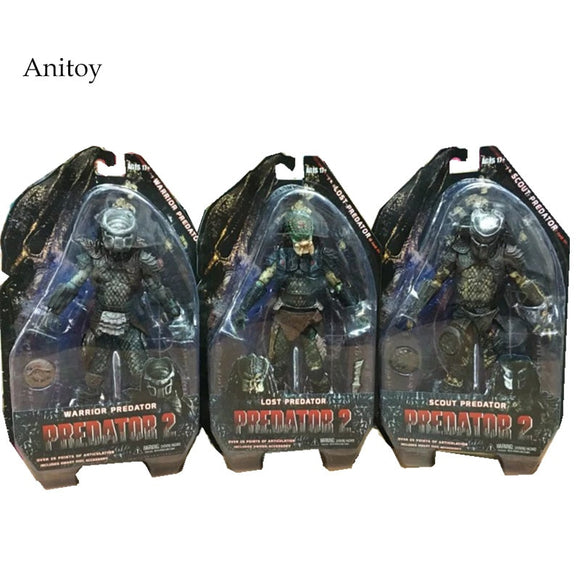 Predators 2 Warrior Predator Lost Predator Scout Predator PVC Action Figure Collectible Model Toy 7