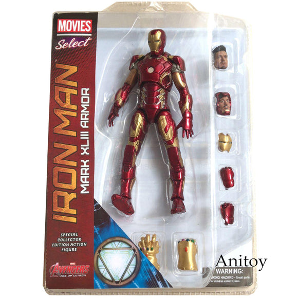 Marvel Select Iron Man MK43 Mark XLIII Armor PVC Action Figure Collectible Model Toy 7