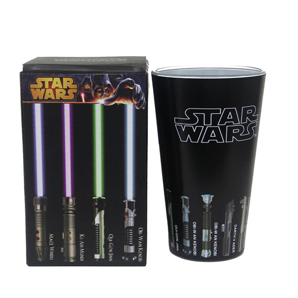 Star Wars Lightsaber Heat Reveal Glass Mug Color Change