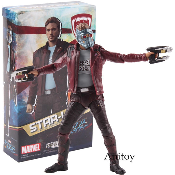 SHF S.H.Figuarts Marvel Avengers Infinity War Star-Lord PVC Star Lord Action Figure Collectible Model Toy 14cm