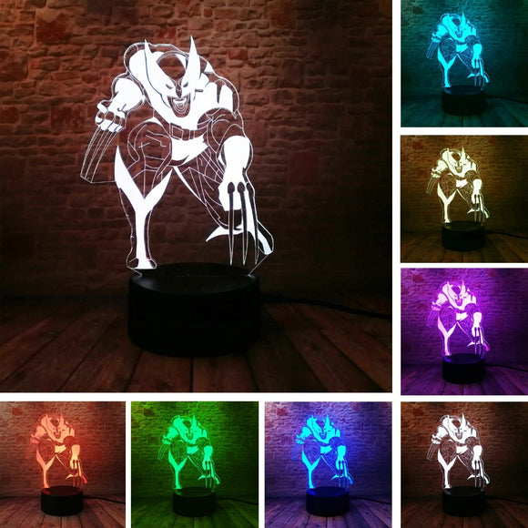 Wolverine Loga Wolf 3D Lamp
