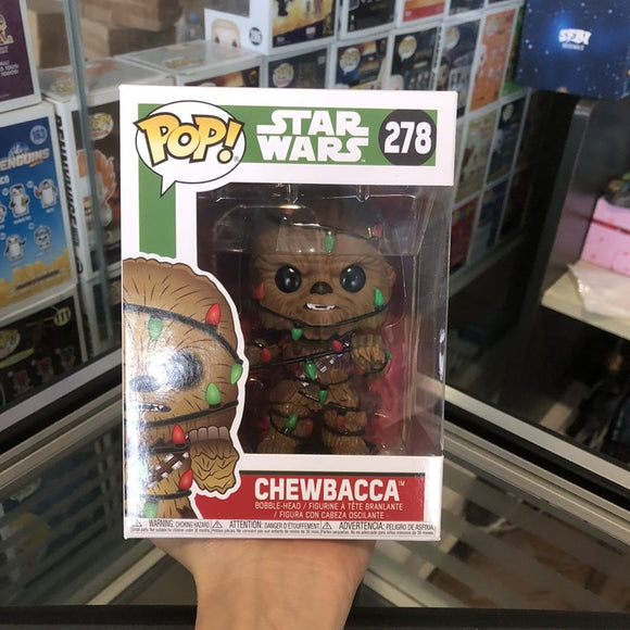 Official Funko pop Star Wars: Holiday - Chewie with Candy Cane Vinyl Action Figure Collectible Model Toy with Original box