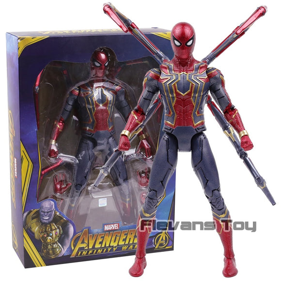 Large iron spider man figure with recharge light up eyes
