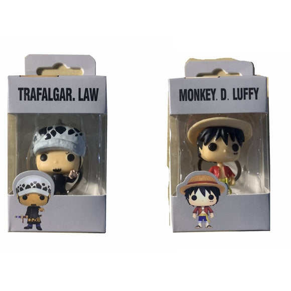 POP One Piece & LUFFY TRAFALGAR.LAW Pocket POP Key chain