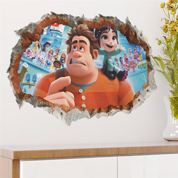 Wreck it Ralph hole in the wall decal ralph breaks the internet wall sticker decal