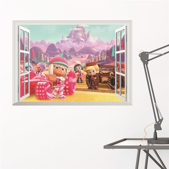 Wreck It Ralph window wall decal candy 1