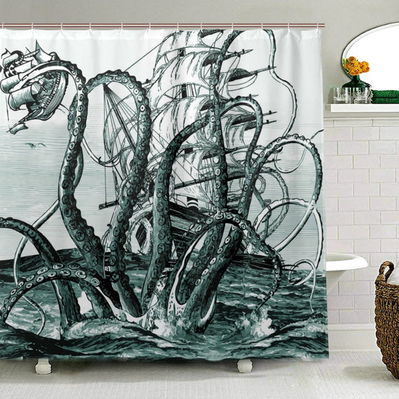 Octopus Shower Curtain Fabric