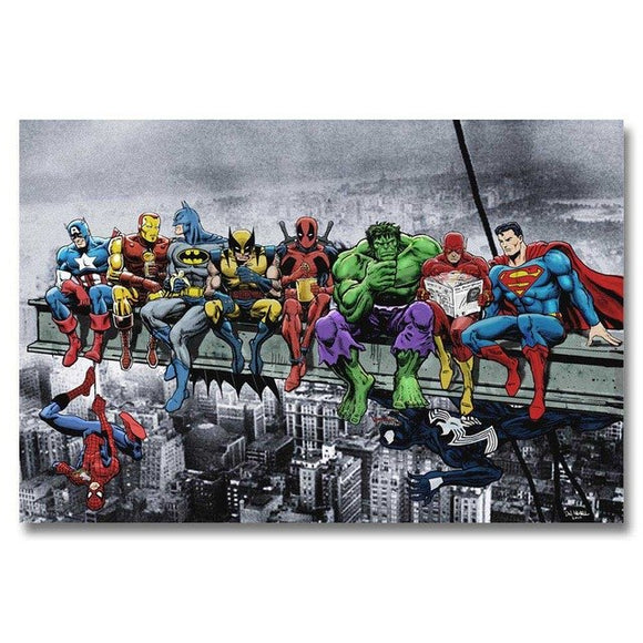 Superheros Marvel DC Comics canvas Poster