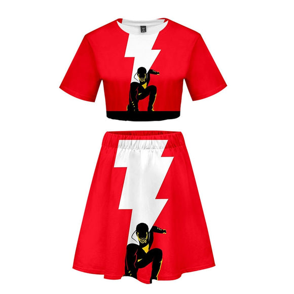 Shazam  Girls  t-shirt and skirt Costume