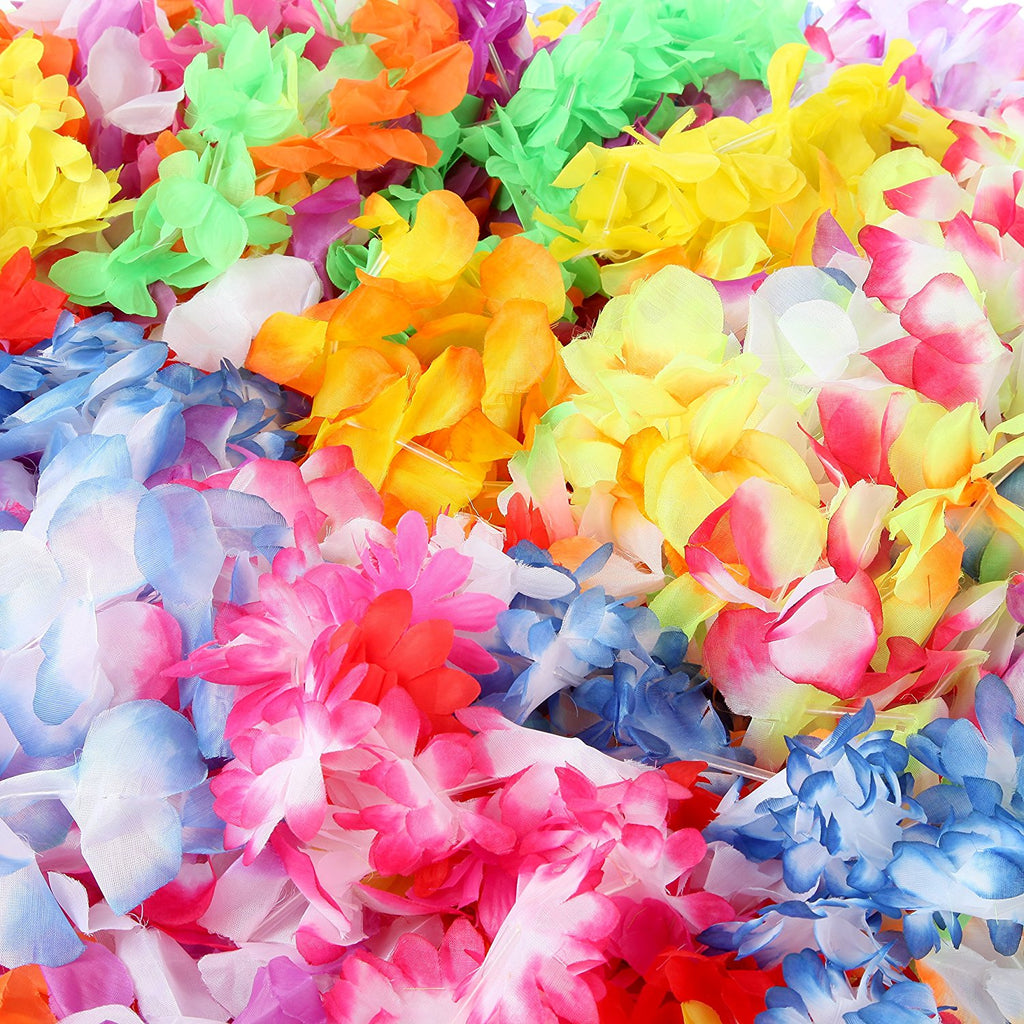 Silk hawaiian leis necklace for luau party flower lei garland with silk hawaiian leis necklace for luau party flower lei garland with mutli color vibrant izmirmasajfo Image collections