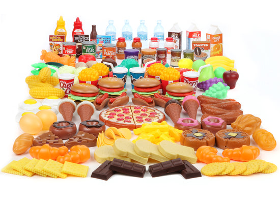 Mommy Please™ Play Food Set for Kids Huge 202 Piece Pretend Food Toy