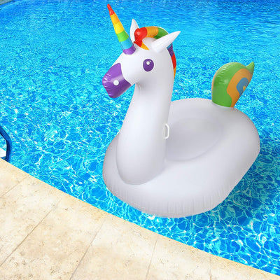 Teddy Shake™ Inflatable Unicorn Pool Float & Raft