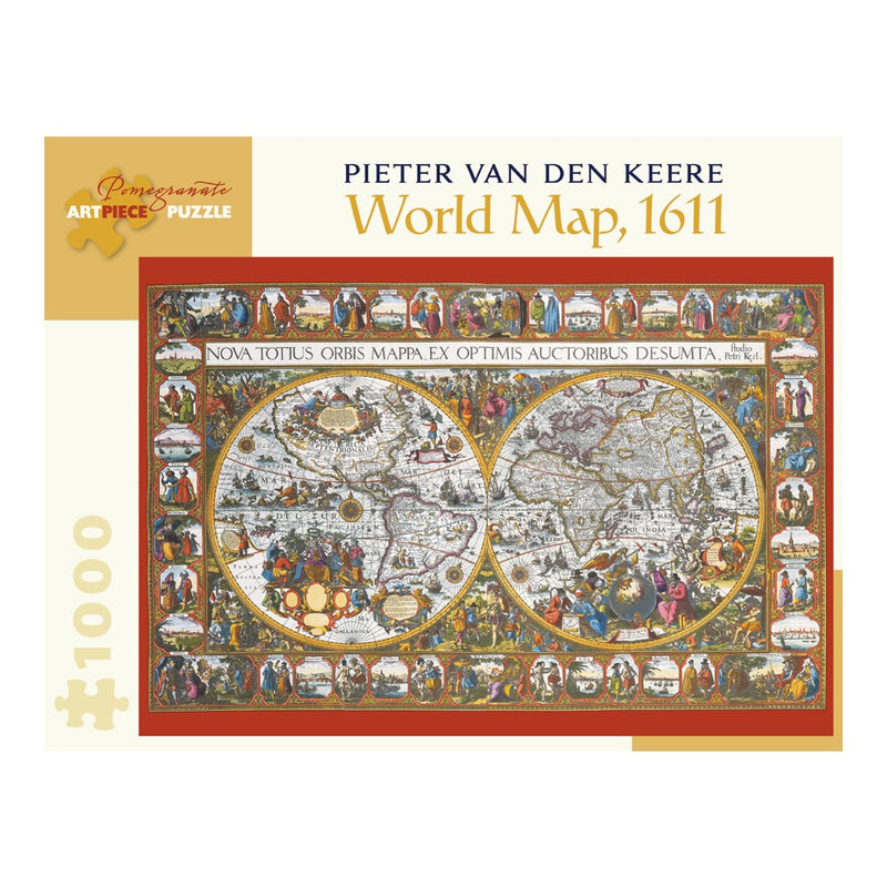 World Map, 1611, 1000 Piece Puzzle