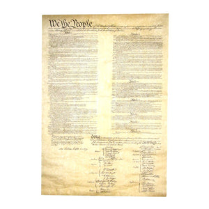 Reproduction of U.S. Constitution