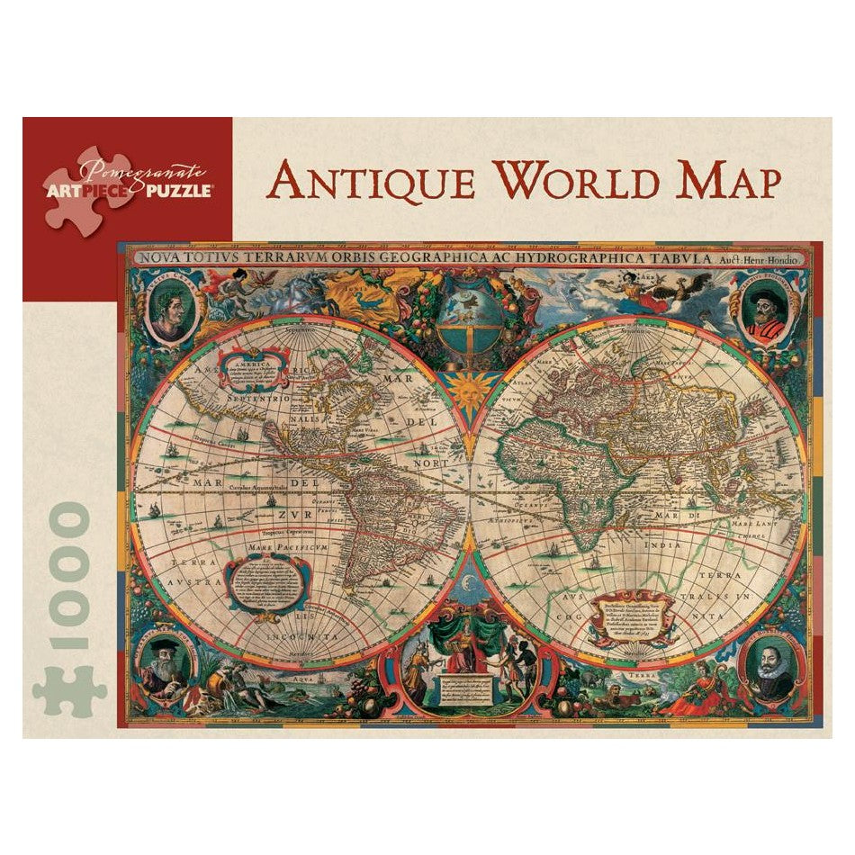 Antique World Map, 1000 Piece Puzzle