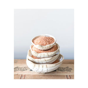Ceramic Oyster Shell Measuring Cups