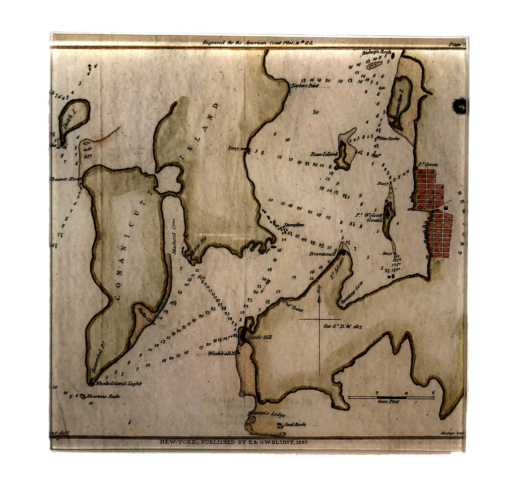 Newport Chart Cutting Board