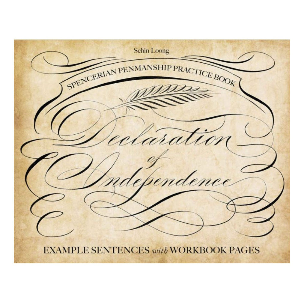 Spencerian Penmanship Practice Book: The Declaration of Independence
