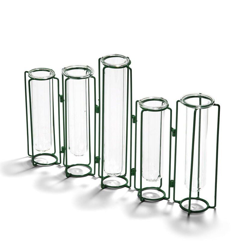 Green Hinged Vases