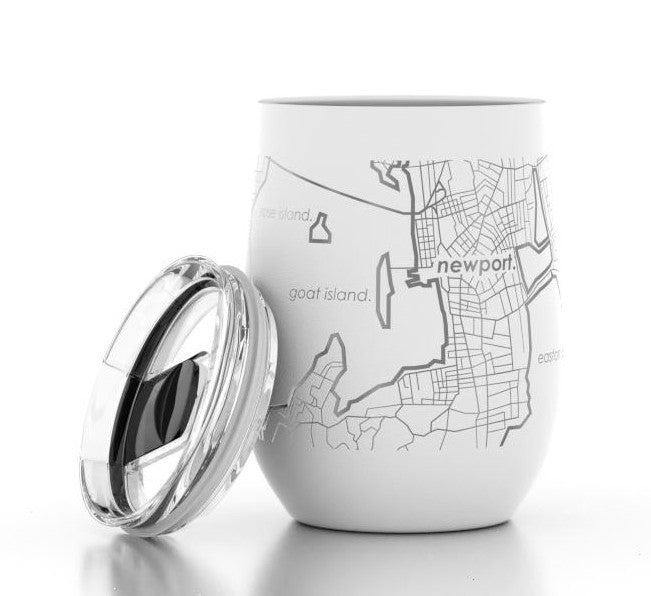 Newport Map Insulated Wine Tumbler