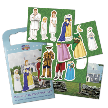 American Revolution Magnetic Dress Up Doll Set