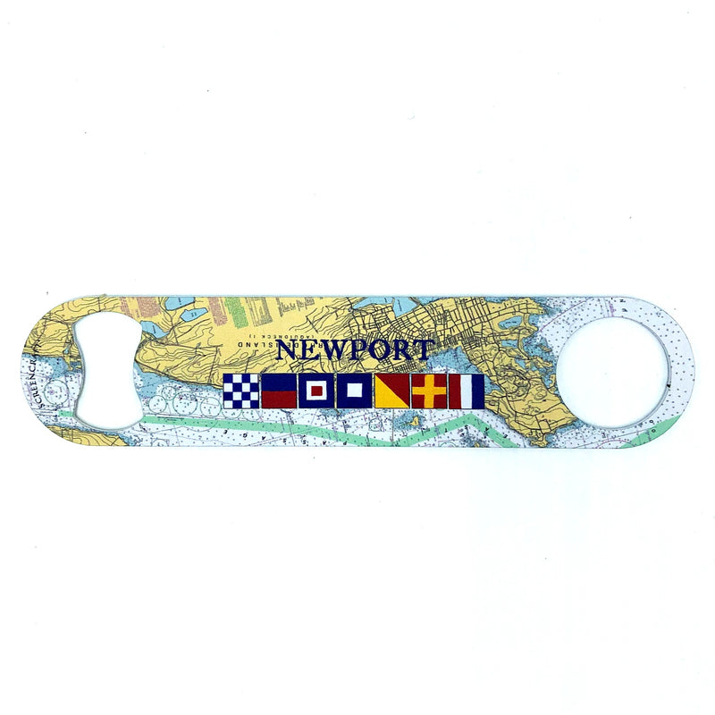 Nautical Chart Newport Bottle Opener