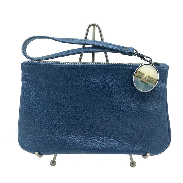 Newport Harbor Leather Wristlet