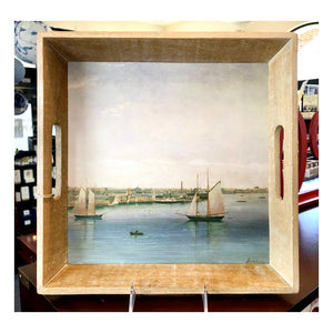 Newport Harbor Wood Tray