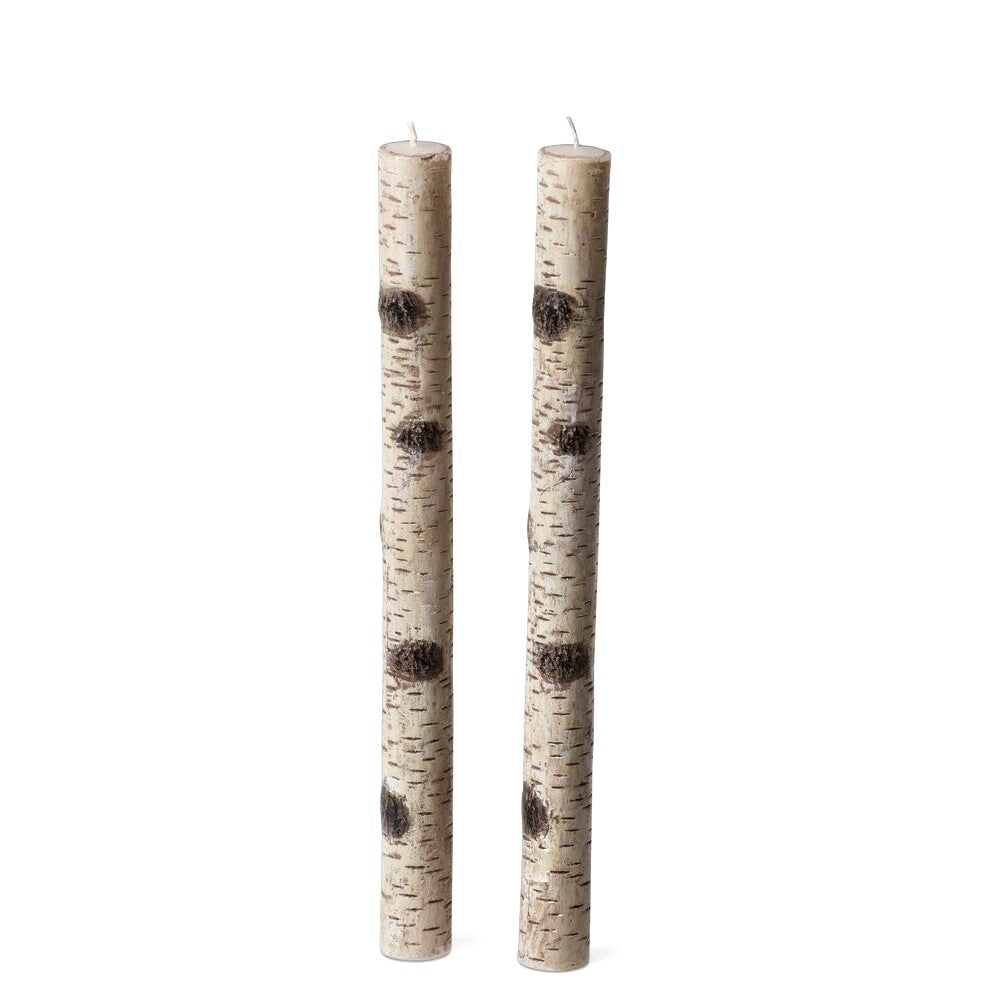 Birch Taper Candles, Set of 2