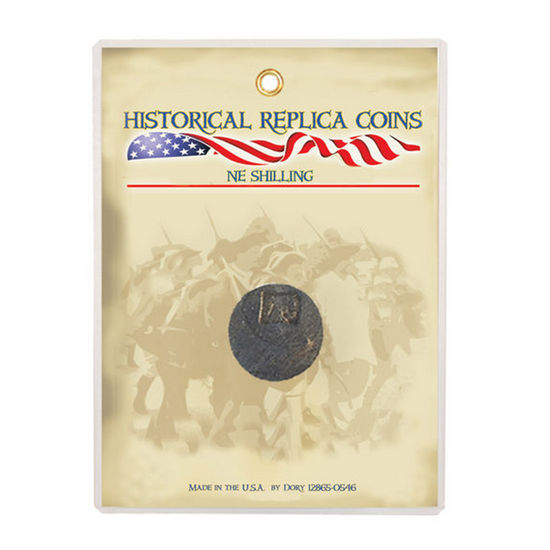 Reproduction New England Shilling Coin