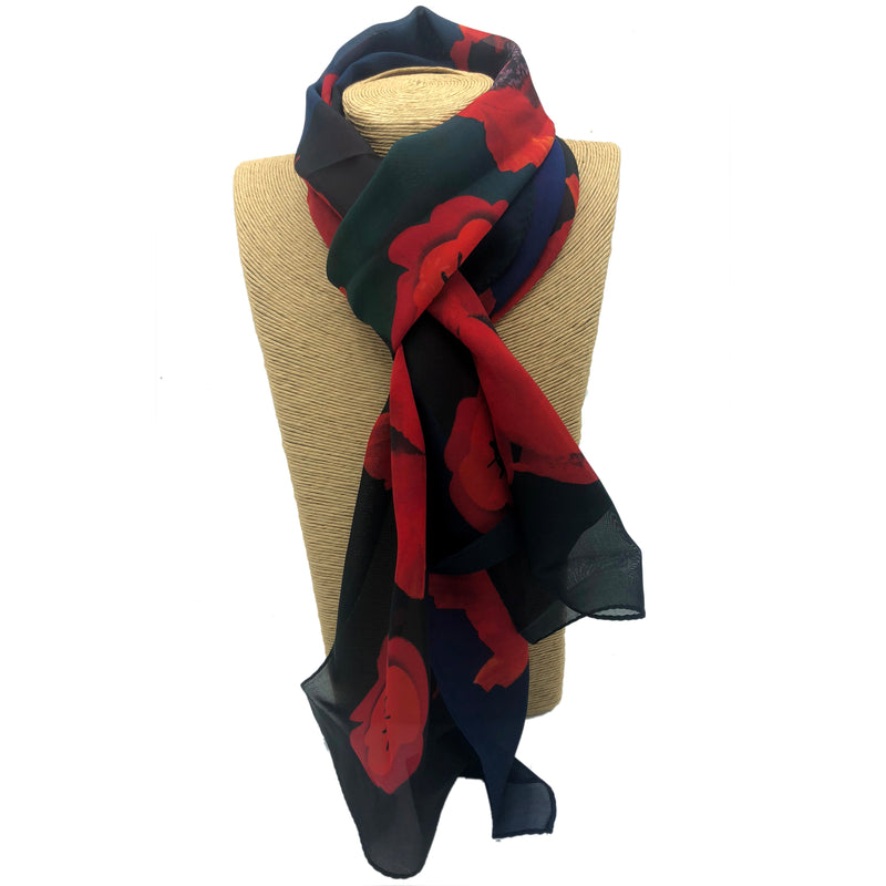 Poppy Remembrance Scarf