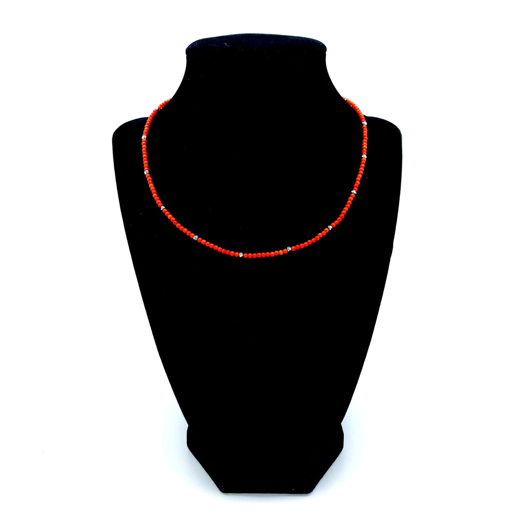 Dainty Red Coral Necklace