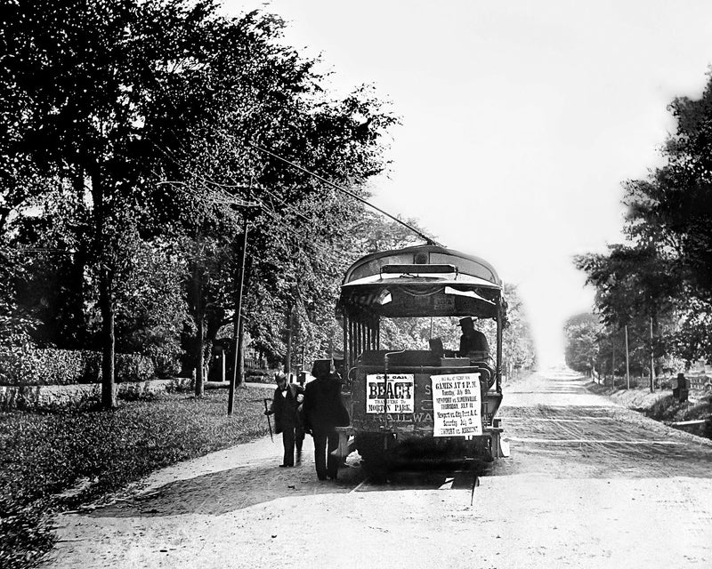 Newport Trolley to the Beach c. 1895