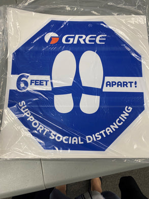 Floor Social Distance decal