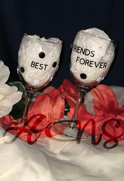 Best Friends Duo Wine Glass Set
