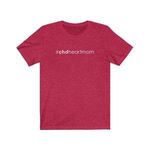 CHD Heart Mom Unisex Tee (white text)