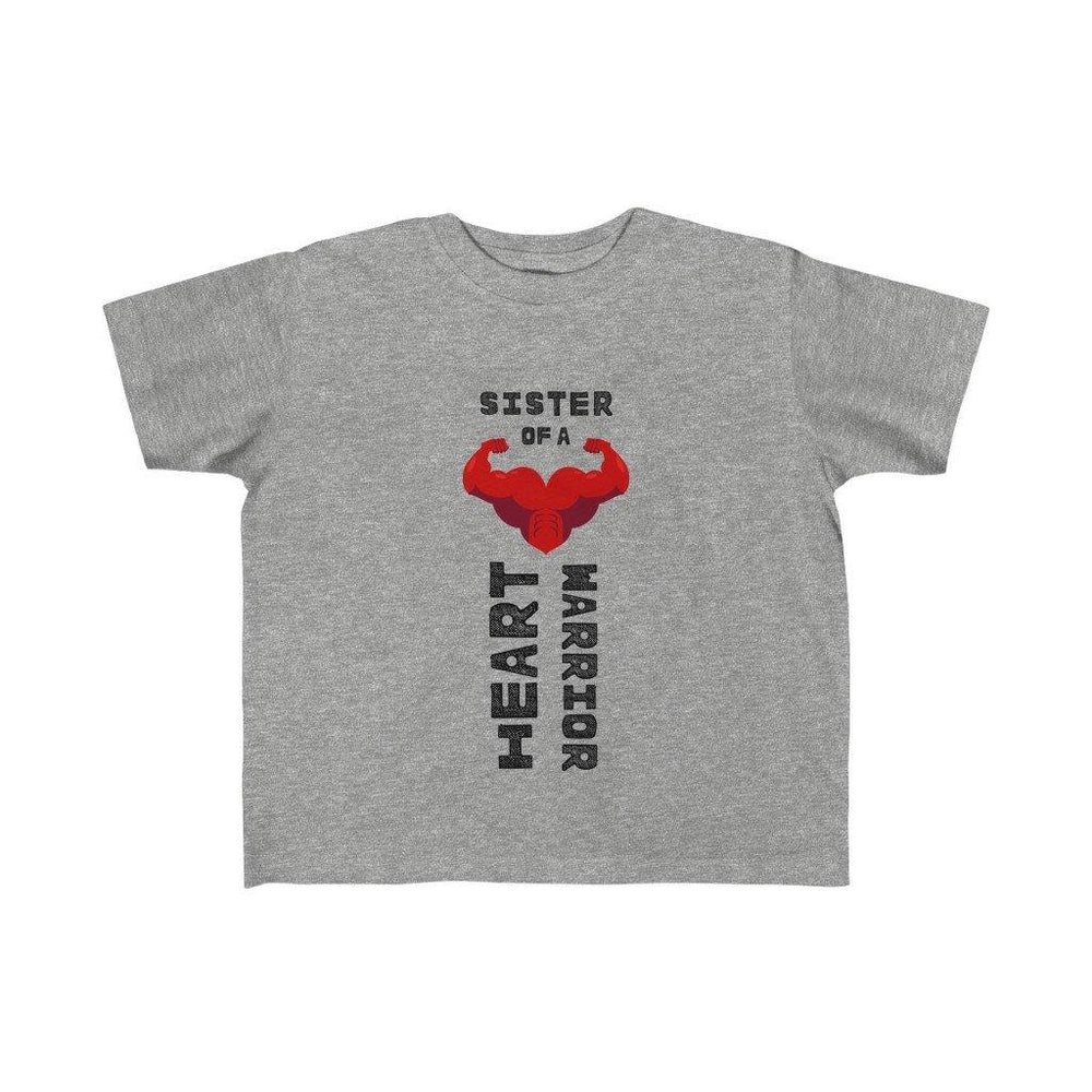 Toddler Sister of a Heart Warrior Tee