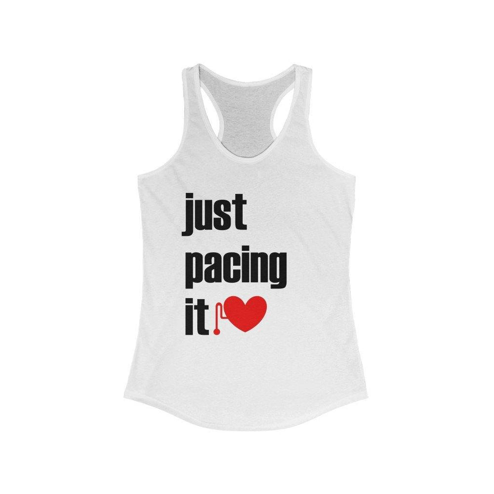 Just Pacing It Slim Fit Racerback Tank