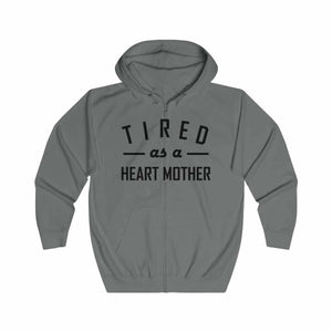 Tired As a Heart Mother Zip-up Hoodie - CHD warrior