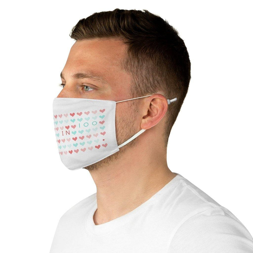 I am One in 100 Fabric Face Mask (white)