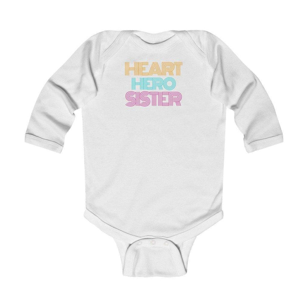 Heart Hero Sister Retro Long-Sleeve Onesie