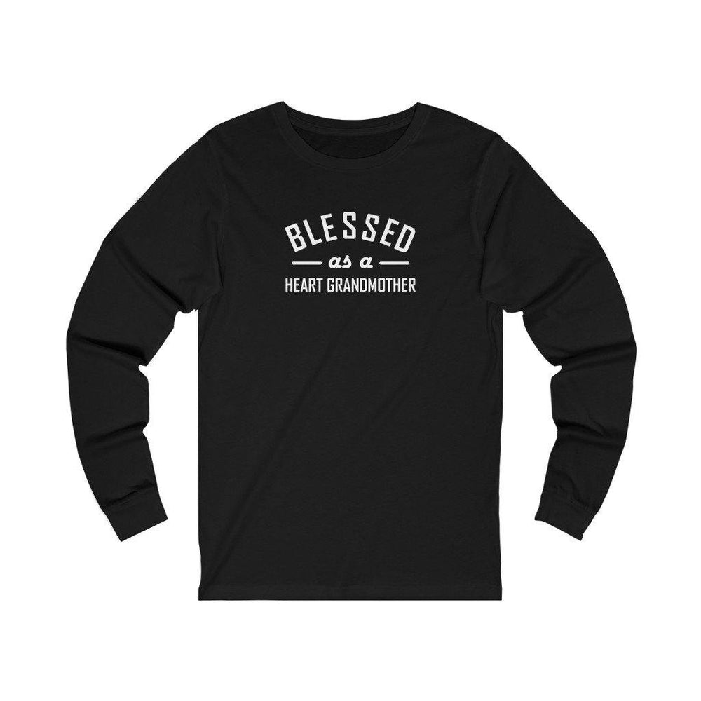 Blessed as a Heart Grandmother Unisex Long Sleeve Tee (white text)